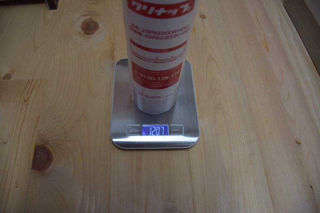 取り外したカートリッジの重さ 1207g