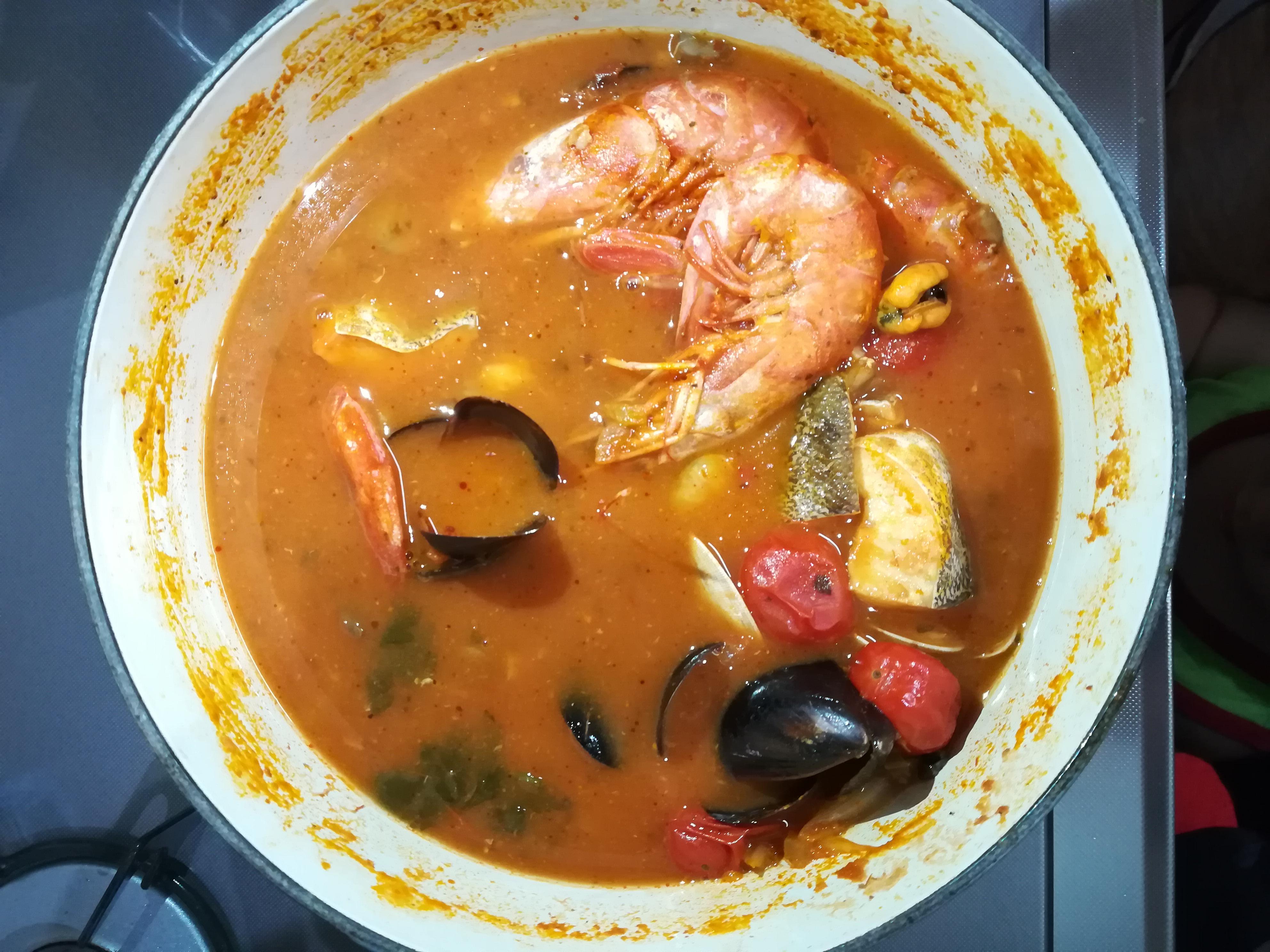 コストコのチョッピーノスープ鍋で加熱後